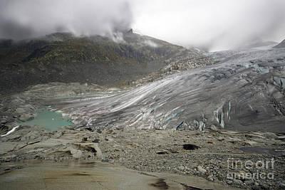 The Glacier Print by Angel  Tarantella