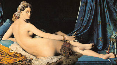 Bed Painting - The Grand Odalisque by Jean-Auguste-Dominique Ingres