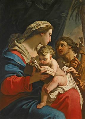 Painting - The Holy Family by Gaetano Gandolfi