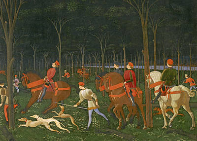 Paolo Painting - The Hunt In The Forest by Paolo Uccello