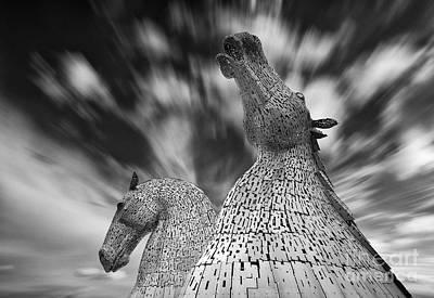 Kelpie Photograph - The Kelpies At Falkirk by Janet Burdon