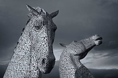 Kelpie Digital Art - The Kelpies by Stephen Taylor