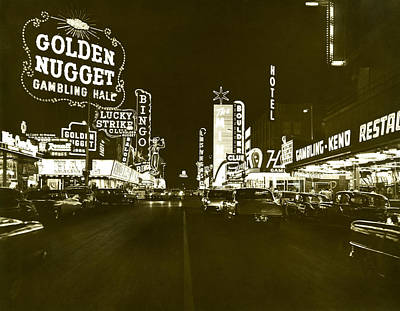 1950s Art Photograph - The Las Vegas Strip by Underwood Archives