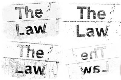 The Law Print by Tom Gowanlock