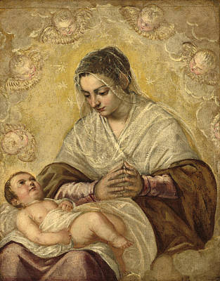 Painting - The Madonna Of The Stars by Tintoretto