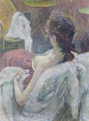 Toulouse-lautrec Painting - The Model Resting by Henri de Toulouse-Lautrec