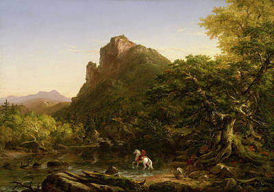 Cole Painting - The Mountain Ford by Thomas Cole