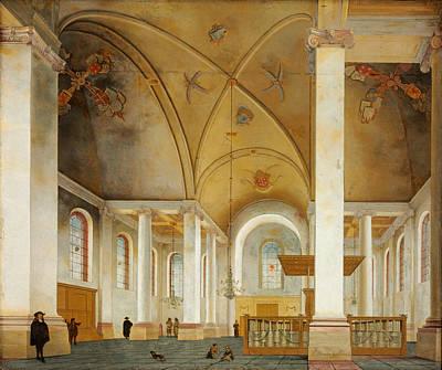 Painting - The Nieuwe Kerk In Haarlem by Pieter Jansz Saenredam