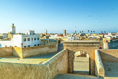Photograph - the old historic portuguese fortress city El Jadida in Morocco by Regina Koch