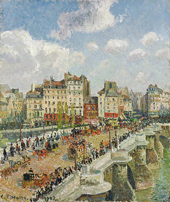 Streetscape Painting - The Pont-neuf by Camille Pissarro