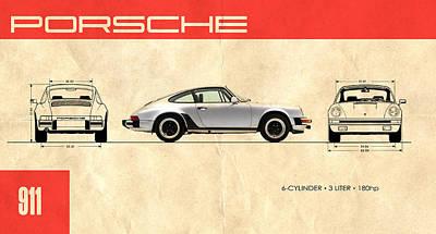Adverts Photograph - The Porsche 911 by Mark Rogan