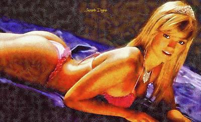 Stylish Painting - The Princess - Fine Wax Style by Leonardo Digenio