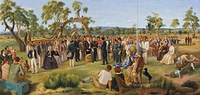 Proclamation Painting - The Proclamation Of South Australia 1836 by Mountain Dreams