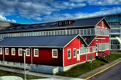 Airplanes Photograph - The Red Barn Of The Boeing Company by David Patterson