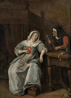 Ladies Painting - The Sick Woman by Jan Steen