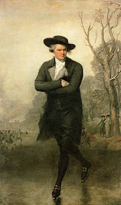 Cloudy Day Painting - The Skater Portrait Of William Grant by Gilbert Stuart