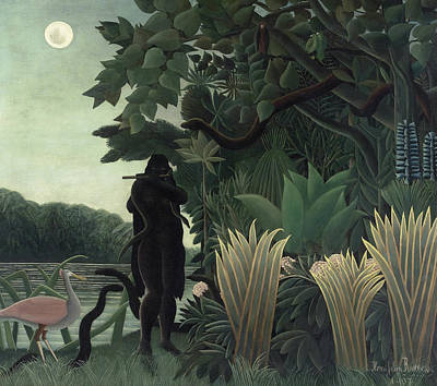 The Snake Charmer Print by Henri Rousseau