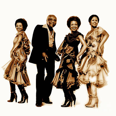 Singer Mixed Media - The Staple Singers Collection by Marvin Blaine