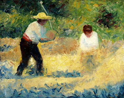 Couple Painting - The Stone Breaker by Georges Seurat