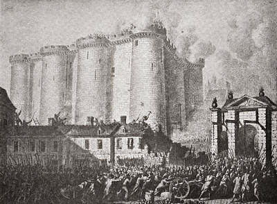 Storm Drawing - The Storming Of The Bastille, Paris by Vintage Design Pics