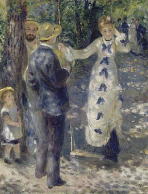 Swing Painting - The Swing by Auguste Renoir