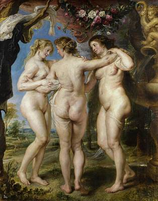 Women Painting - The Three Graces by Peter Paul Rubens