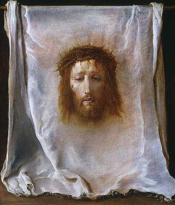 Jesus Face Painting - The Veil Of Veronica by Domenico Fetti