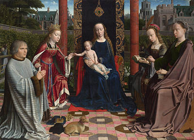 Infant Painting - The Virgin And Child With Saints And Donor by Gerard David