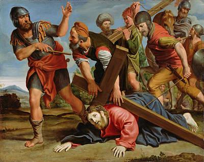 Domenichino Painting - The Way To Calvary by Domenichino