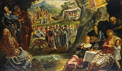 Tintoretto Painting - The Worship Of The Golden Calf by Tintoretto