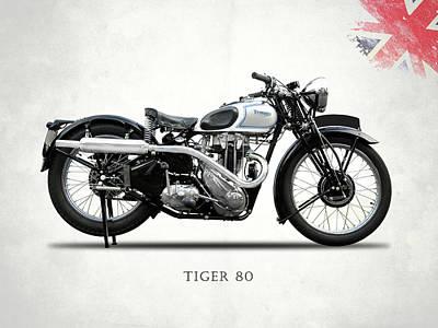 Tiger Photograph - Triumph Tiger 80 1937 by Mark Rogan