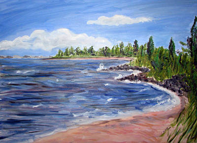 Bayville Painting - Trixies Cove by Clara Sue Beym
