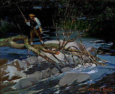 Painting - Trout Fishing by George Benjamin Luks