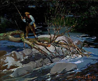 Painting - Trout Fishing by George Benjamin Luks