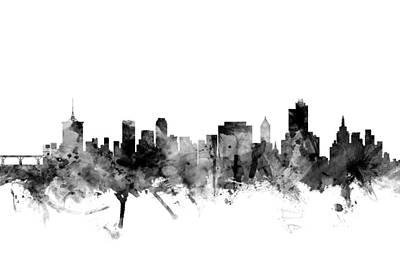 Oklahoma Digital Art - Tulsa Oklahoma Skyline by Michael Tompsett