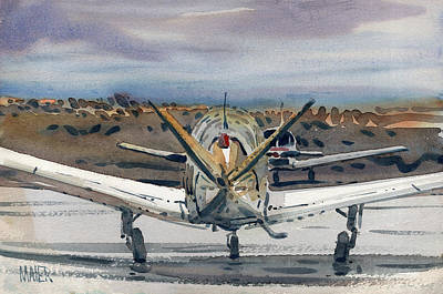 Airplane Painting - Two Planes by Donald Maier