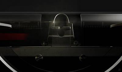 Macro Digital Art - Typewriter Closeup by Allan Swart