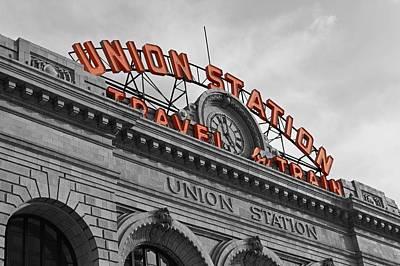 Selecting Photograph - Union Station - Denver  by Mountain Dreams