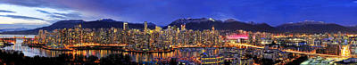 Vancouver Photograph - Vancouver Skyline Panorama by Wesley Allen Shaw