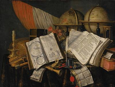 Vanitas Still Life With A Candlestick Print by Edwaert  Collier