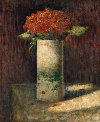 Vase Painting - Vase Of Flowers by Georges Seurat