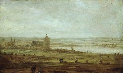 Dutch Painting - View Of Arnhem by Jan van Goyen