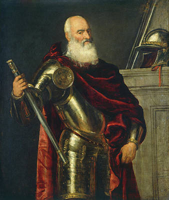 Aged Painting - Vincenzo Cappello by Titian