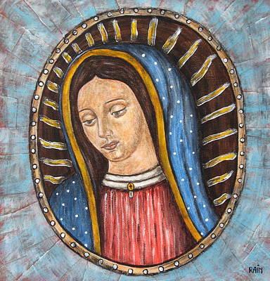 Virgen De Guadalupe Painting - Virgen De Guadalupe by Rain Ririn