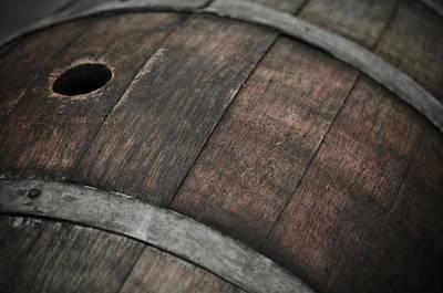 Cellar Photograph - Wine Barrel by Brandon Bourdages