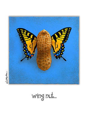 Peanuts Painting - Wing Nut by Will Bullas