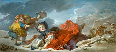 Jean-honore Fragonard Painting - Winter by Jean-Honore Fragonard