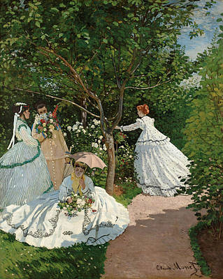 Park Painting - Women In The Garden by Claude Monet