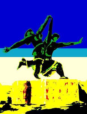 2 Women Running Original by Irving Starr
