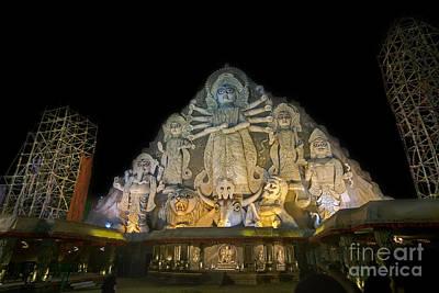 Goddess Durga Photograph - World's Biggest Durga Idol At Puja Festival 70 Feet Tall Made Of Clay by Rudra Narayan  Mitra